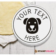 """Custom 2.4"""" (60mm) Dog Face Round Cookie Stamp"""