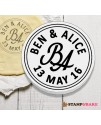 Custom Round Fancy Initial Cookie Stamp