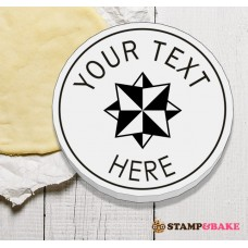"Custom 2.4"" (60mm) 3D Star Round Cookie Stamp"
